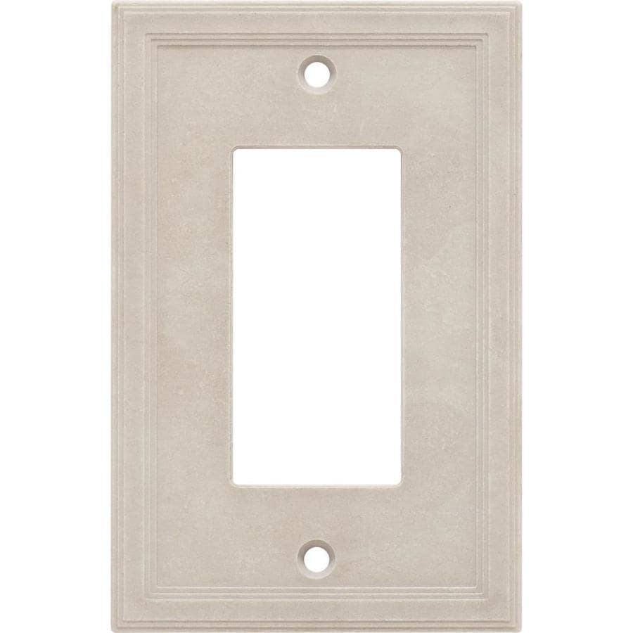 Somerset Collection 1-Gang Sand Single Round Wall Plate