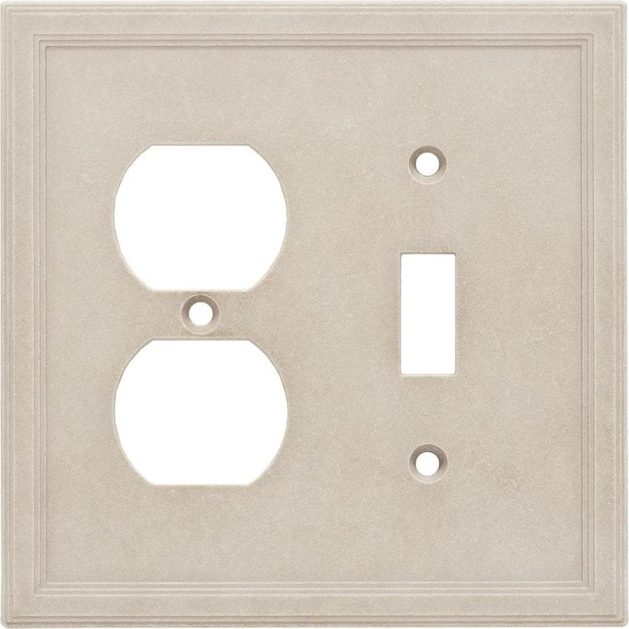 Somerset Collection Somerset 2-Gang Sand Double Toggle/Duplex Wall Plate