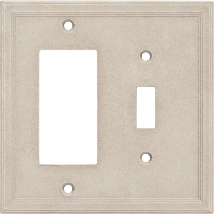 Somerset Collection Somerset 2-Gang Sand Double Toggle/Decorator Wall Plate  sc 1 st  Loweu0027s & Shop Somerset Collection Somerset 2-Gang Sand Double Toggle ...