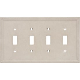 Somerset Collection Somerset 4 Gang Sienna Quad Toggle Standard Wall Plate In The Wall Plates Department At Lowes Com