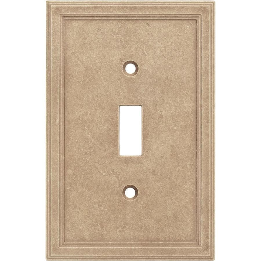 Somerset Collection 1-Gang Sienna Toggle Wall Plate