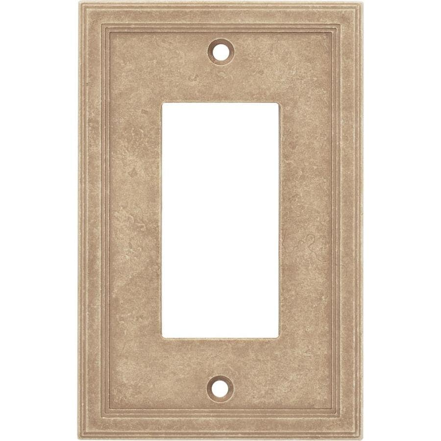Decorative Wall Plate Cast Stone : Somerset collection gang sienna single