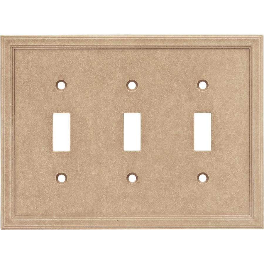 Decorative Wall Plate Cast Stone : Somerset collection gang sienna triple