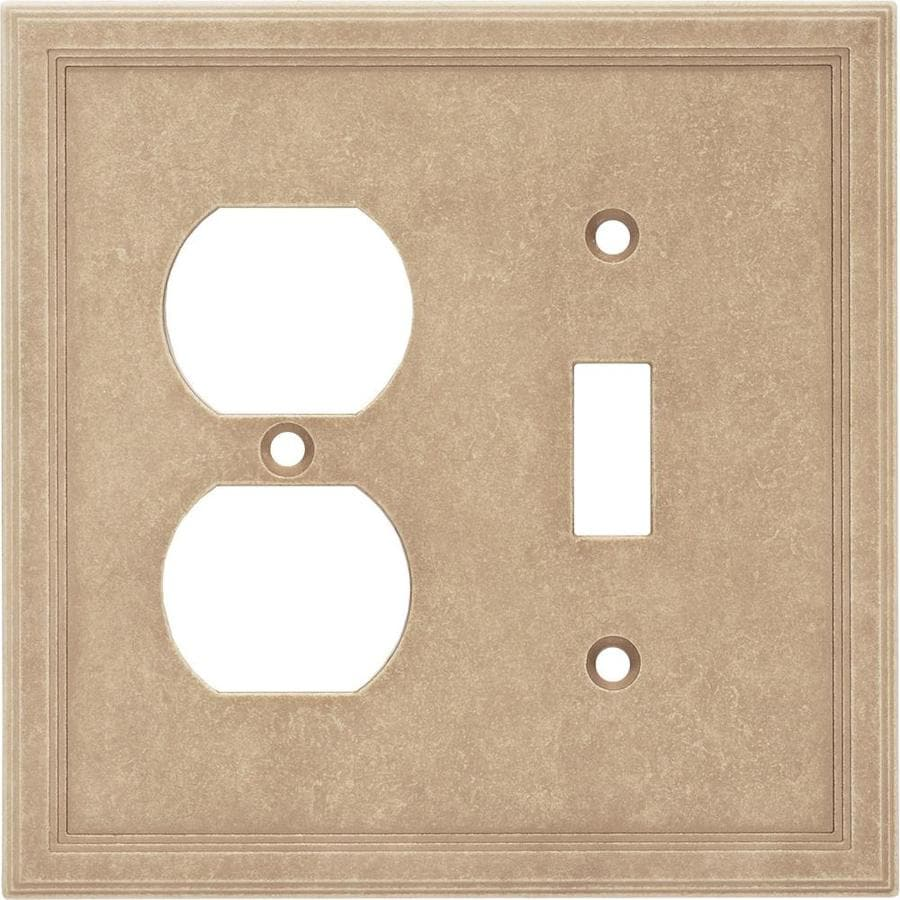 Somerset Collection Somerset 2-Gang Sienna Double Toggle/Duplex Wall Plate
