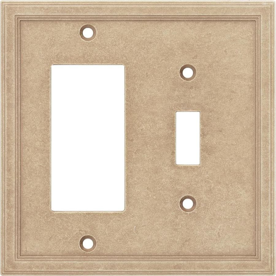 Bon Somerset Collection Somerset 2 Gang Sienna Double Toggle/Decorator Wall  Plate