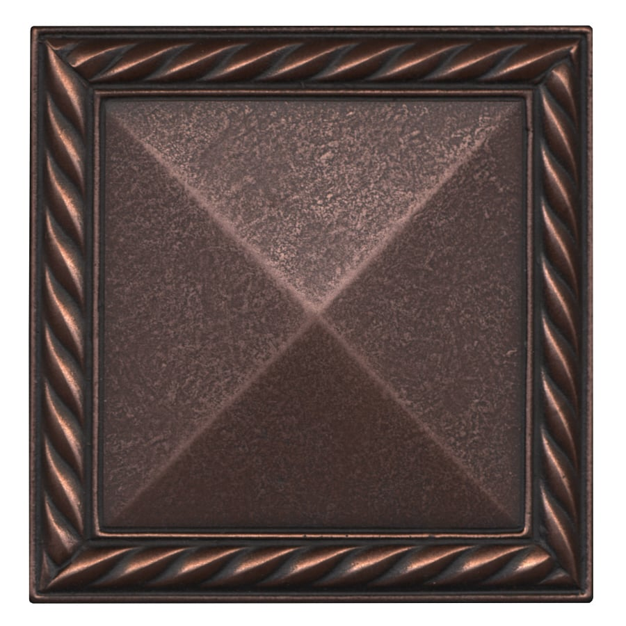 Somerset Collection Somerset Oil Rubbed Bronze Metal Square Accent Tile (Common: 4-in x 4-in; Actual: 3.88-in x 3.88-in)