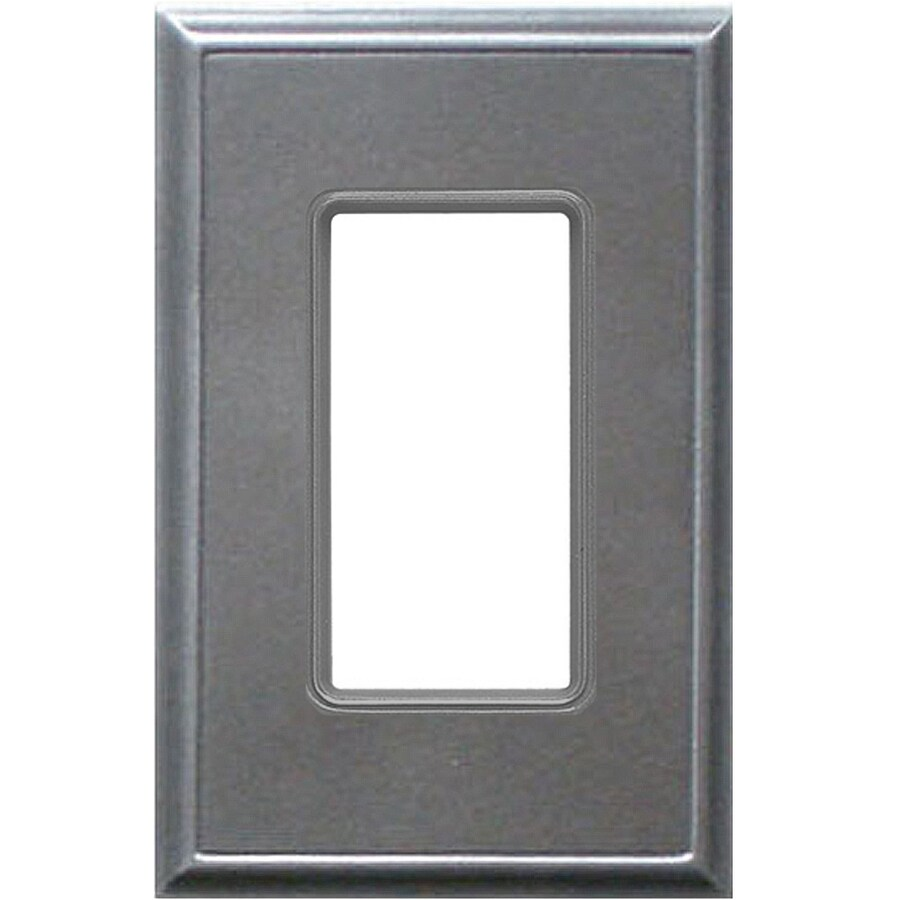 Somerset Collection 1-Gang Iron Single Round Wall Plate