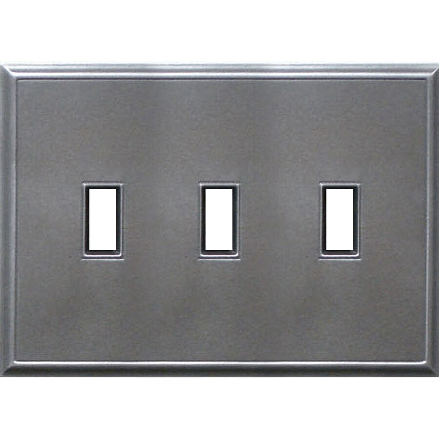 Somerset Collection 3-Gang Iron Toggle Wall Plate