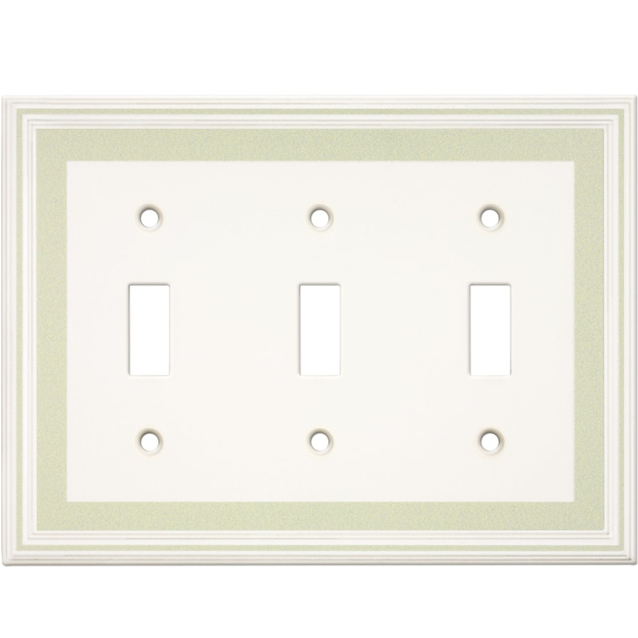 Somerset Collection Color Signatures 3-Gang Soft Sage Toggle Wall Plate