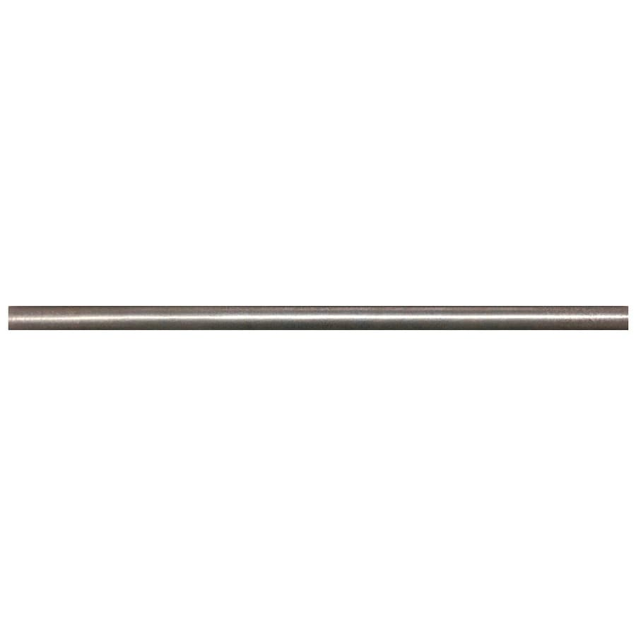 Somerset Collection Somerset Bright Nickel Metal Pencil Liner Tile (Common: 1/2-in x 12-in; Actual: 0.5-in x 11.93-in)