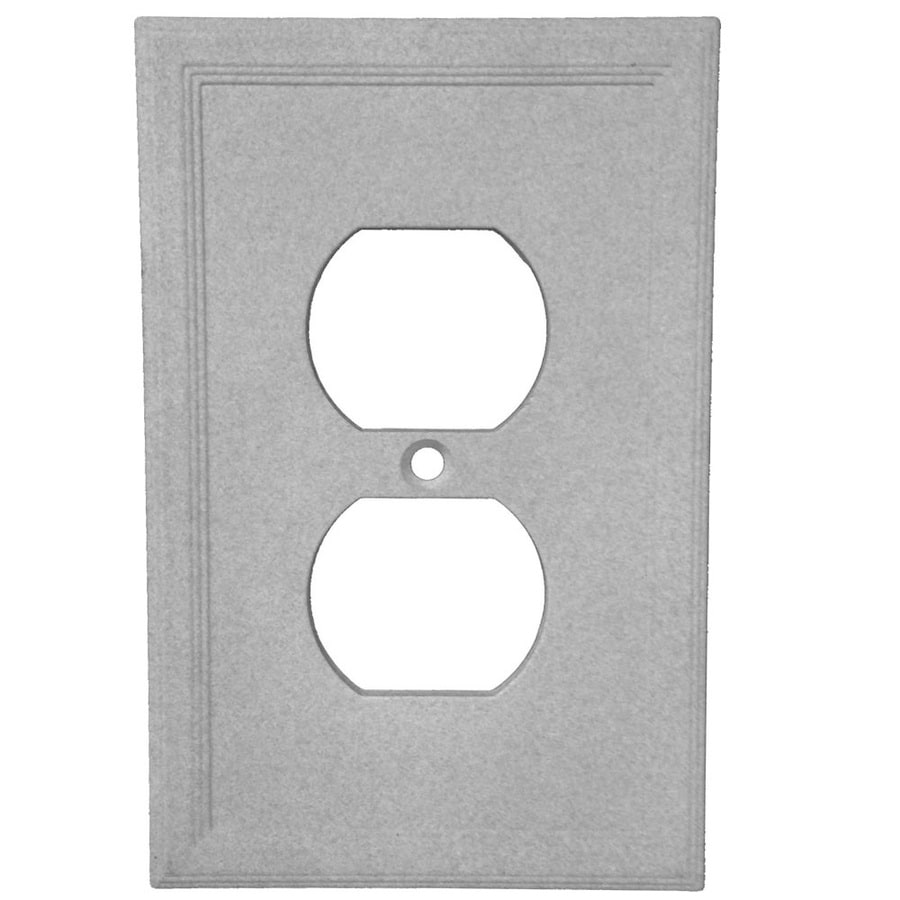Somerset Collection Somerset 1-Gang Gray Single Duplex Wall Plate