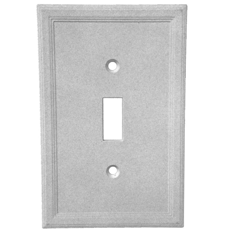 Somerset Collection Somerset 1-Gang Gray Toggle Wall Plate