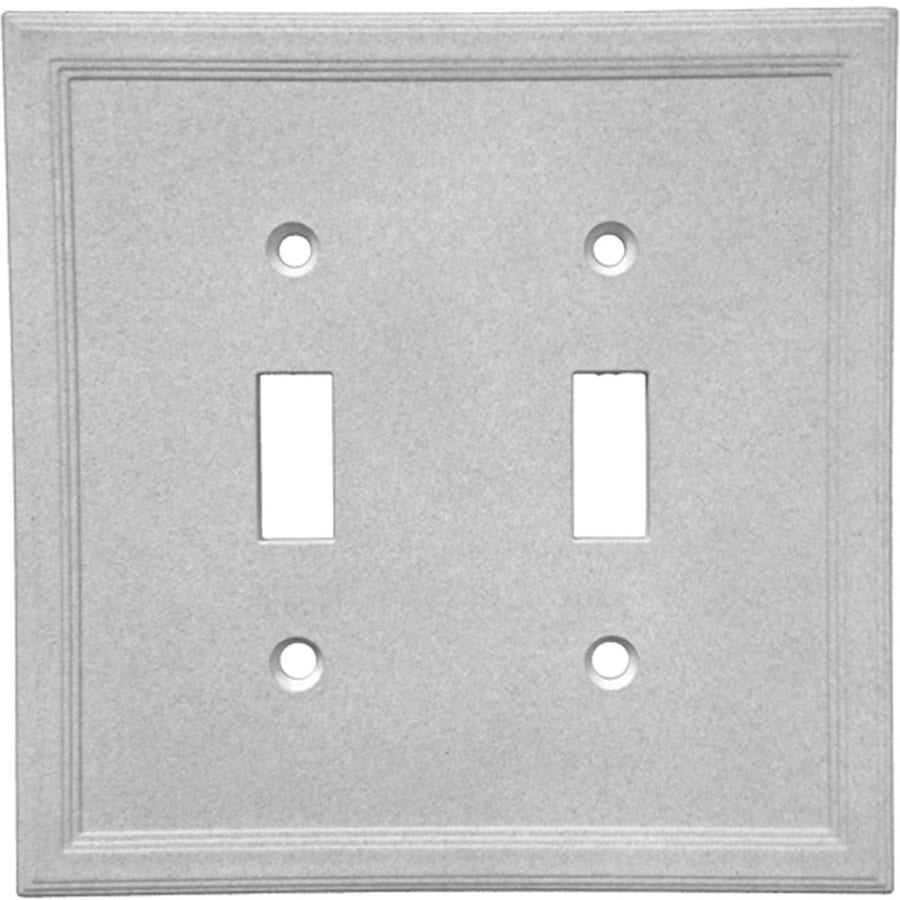Somerset Collection Somerset 2-Gang Gray Double Toggle Wall Plate