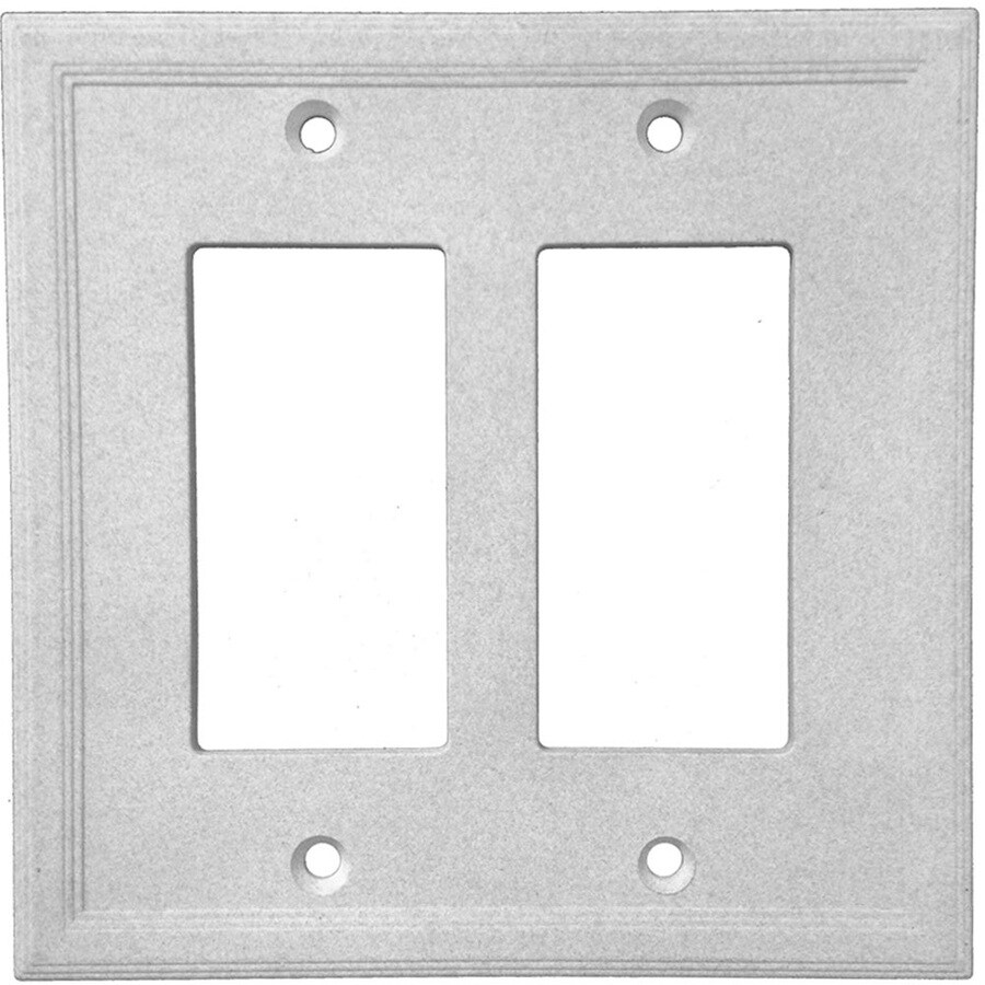 Somerset Collection Somerset 2-Gang Gray Decorator Wall Plate