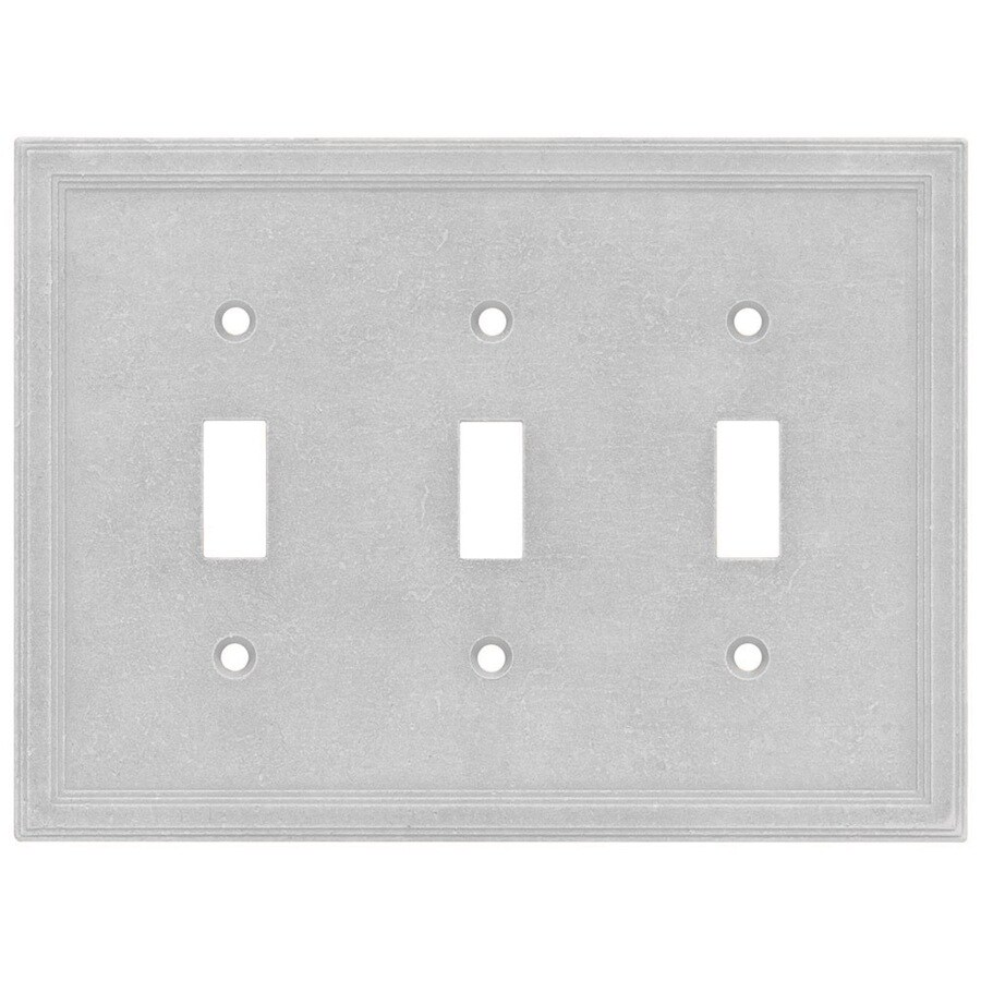 Somerset Collection Somerset 3-Gang Gray Toggle Wall Plate