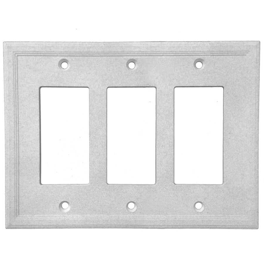 Somerset Collection Somerset 3-Gang Gray Triple Decorator Wall Plate
