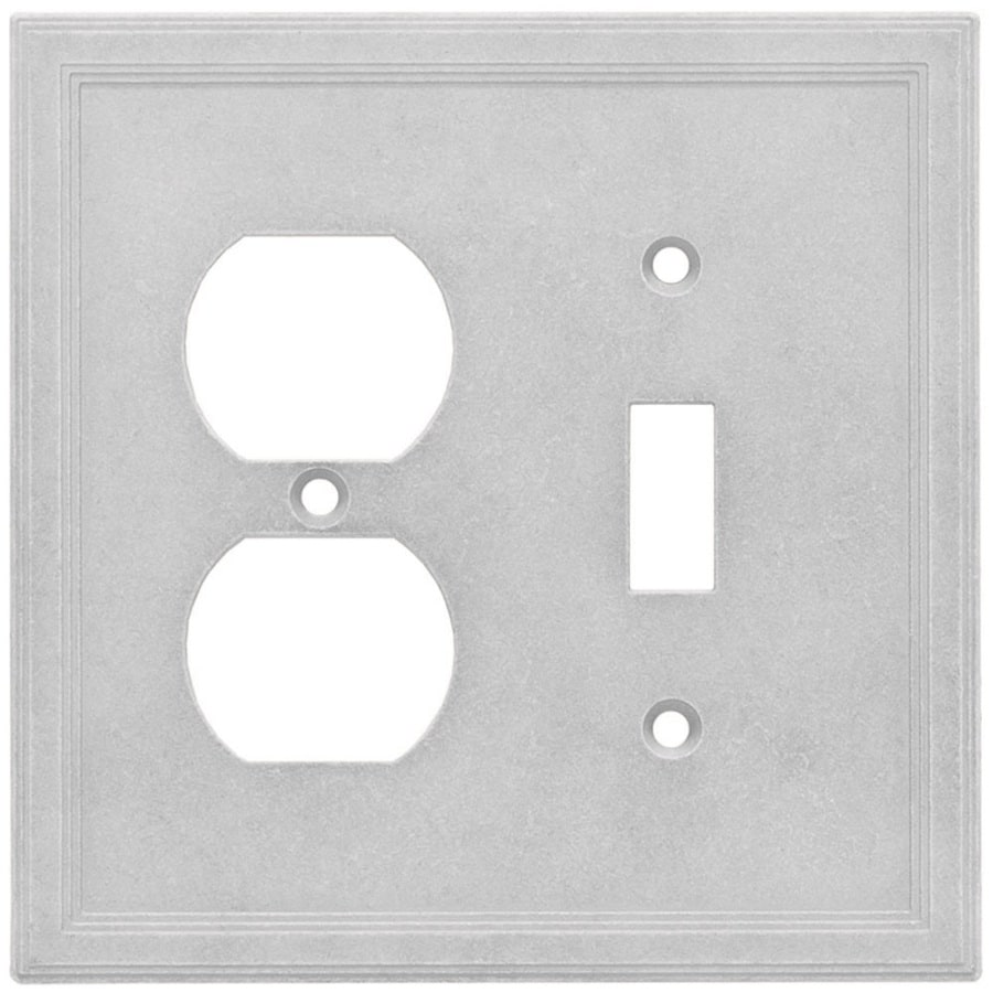 Somerset Collection Somerset 2-Gang Gray Double Toggle/Duplex Wall Plate