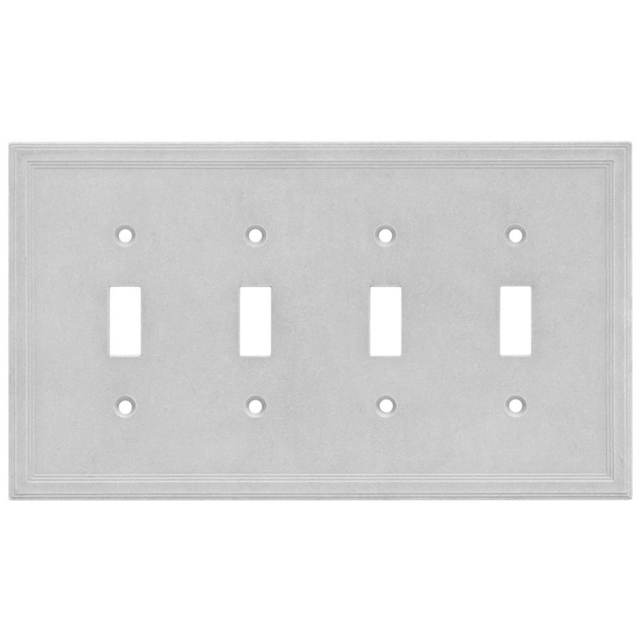 Somerset Collection Somerset 4-Gang Gray Quad Toggle Wall Plate