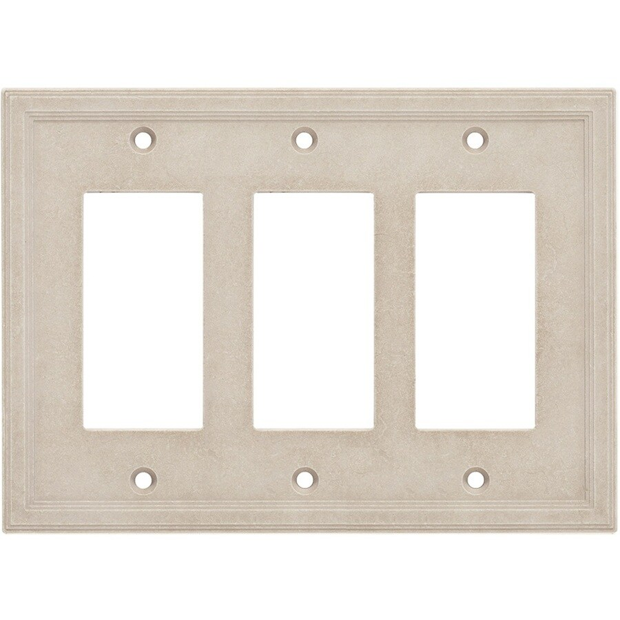 Somerset Collection Somerset 3-Gang Sand Decorator Wall Plate