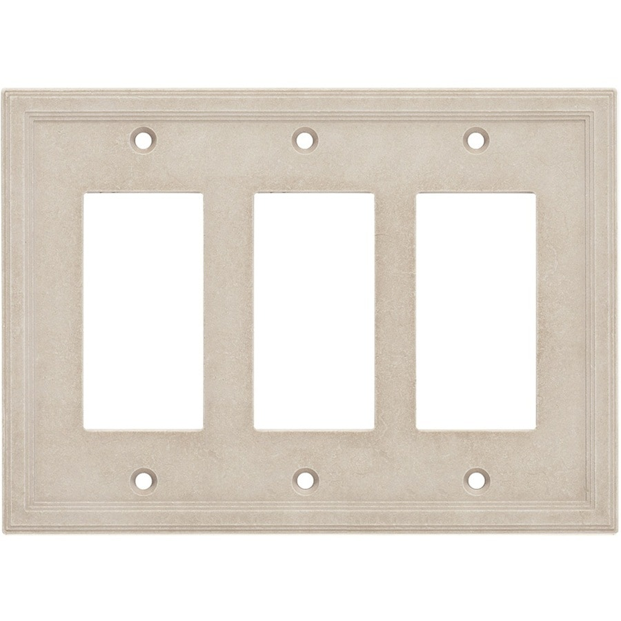 Somerset Collection Somerset 3-Gang Sand Triple Decorator Wall Plate
