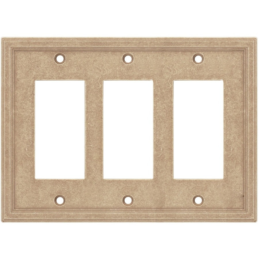 Somerset Collection Somerset 3-Gang Sienna Triple Decorator Wall Plate
