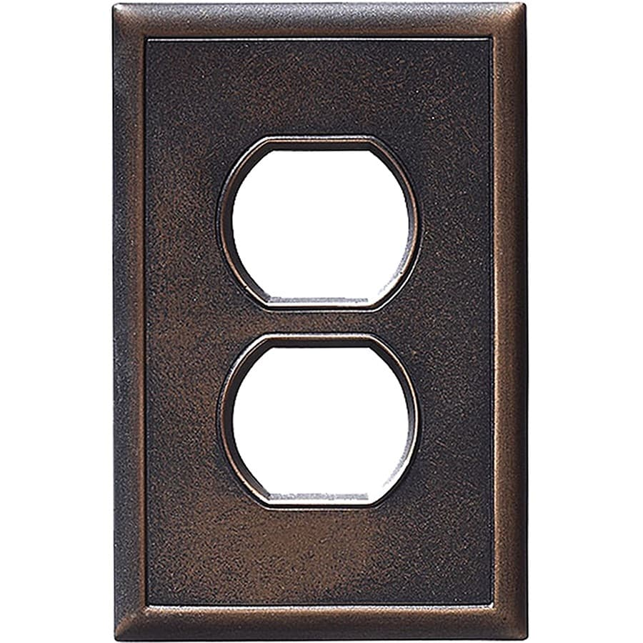 Somerset Collection Somerset 1-Gang Oil-Rubbed Bronze Round Wall Plate