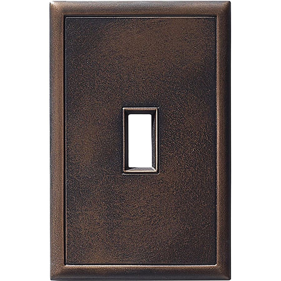 Somerset Collection Somerset 1-Gang Oil-Rubbed Bronze Toggle Wall Plate
