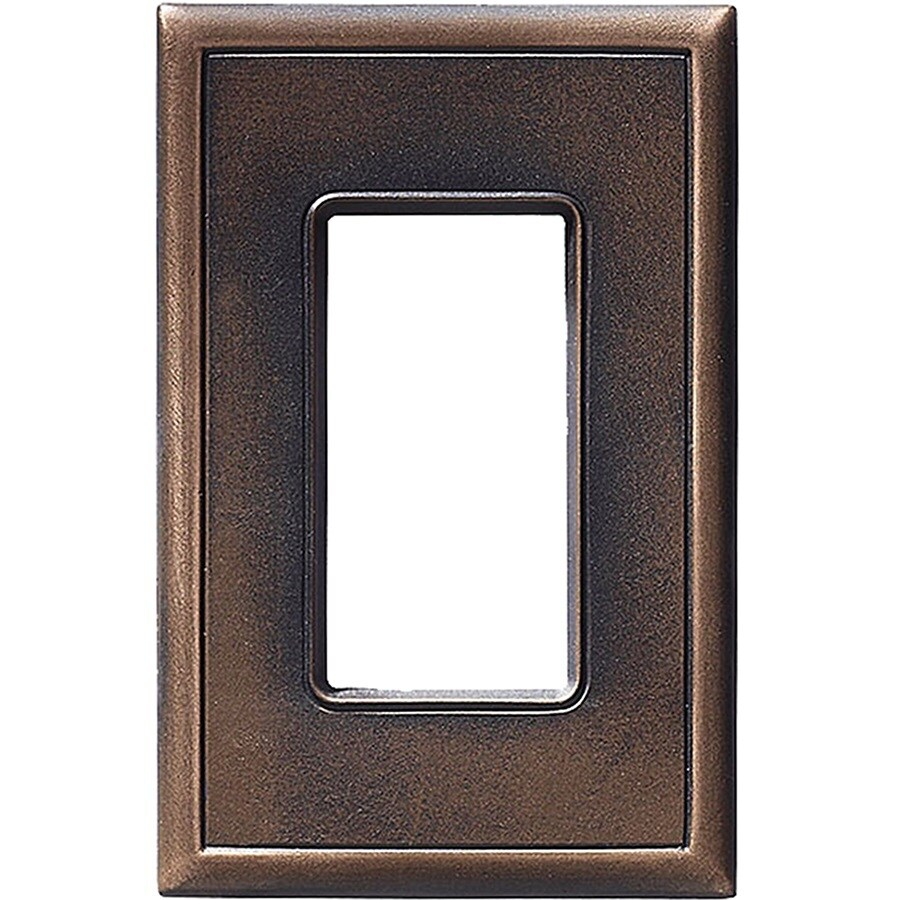 Somerset Collection Somerset 1-Gang Oil-Rub Bronze Decorator Wall Plate