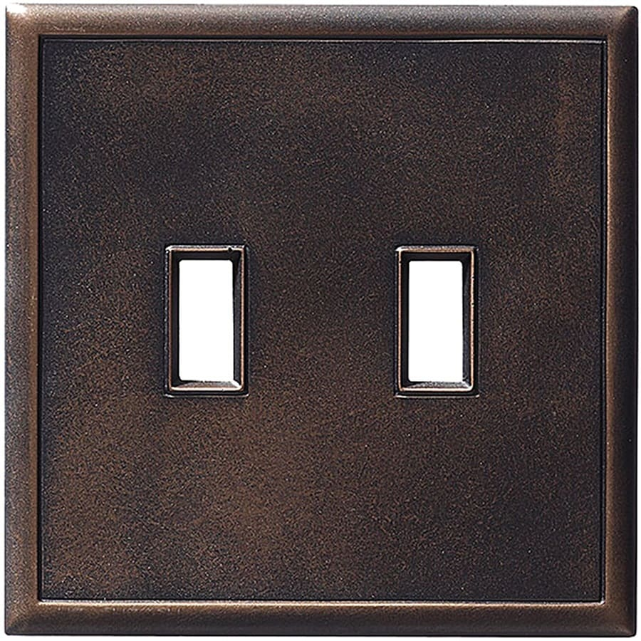 Somerset Collection Somerset 2-Gang Oil-Rubbed Bronze Double Toggle Wall Plate