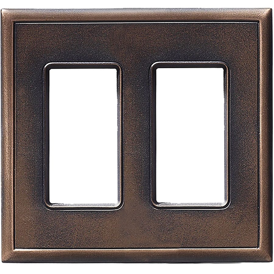 Somerset Collection Somerset 2-Gang Oil-Rubbed Bronze Double Decorator Wall Plate