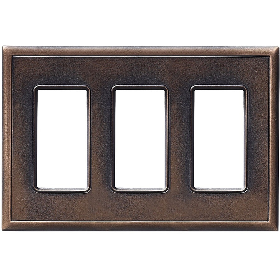 Somerset Collection Somerset 3-Gang Oil-Rub Bronze Decorator Wall Plate