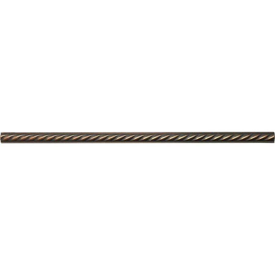 Somerset Collection Oil Rubbed Bronze Metal Pencil Liner Tile (Common: 1/2-in x 12-in; Actual: 0.5-in x 11.93-in)
