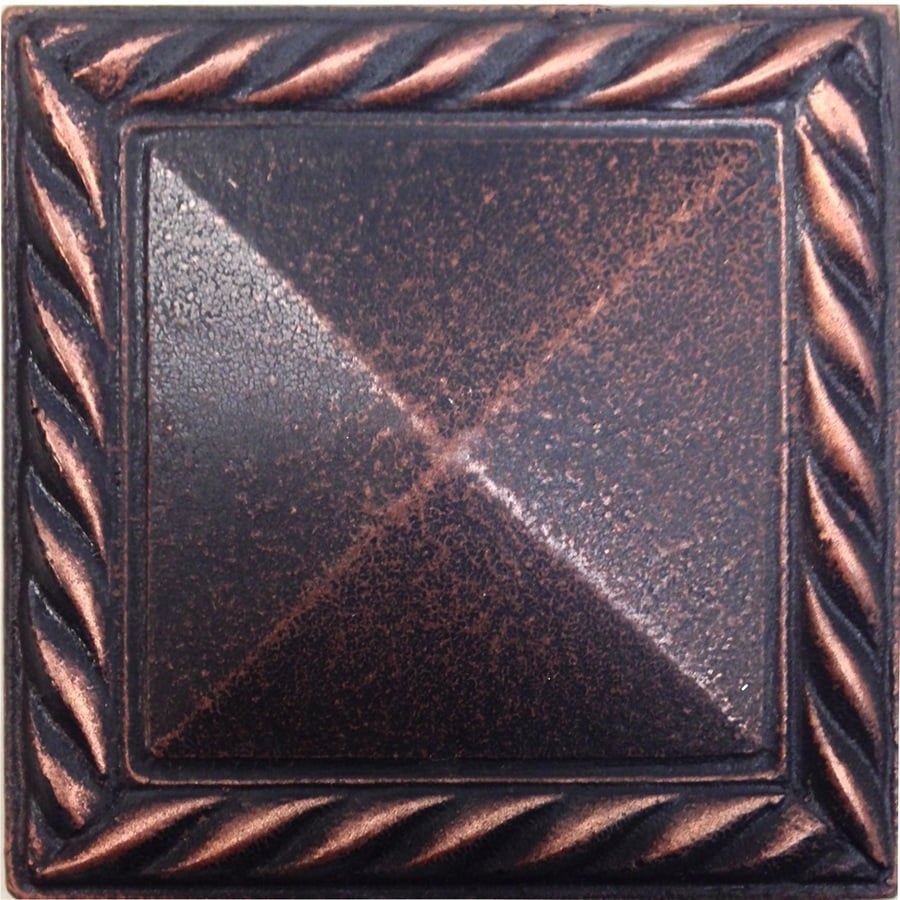 Somerset Collection Somerset Oil Rubbed Bronze Metal Border Tile (Common: 2-in x 2-in; Actual: 1.87-in x 1.87-in)