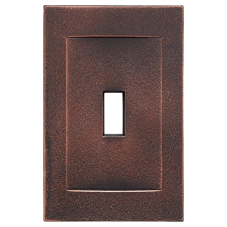 Somerset Collection Contemporary 1-Gang Oil-Rubbed Bronze Wall Plate