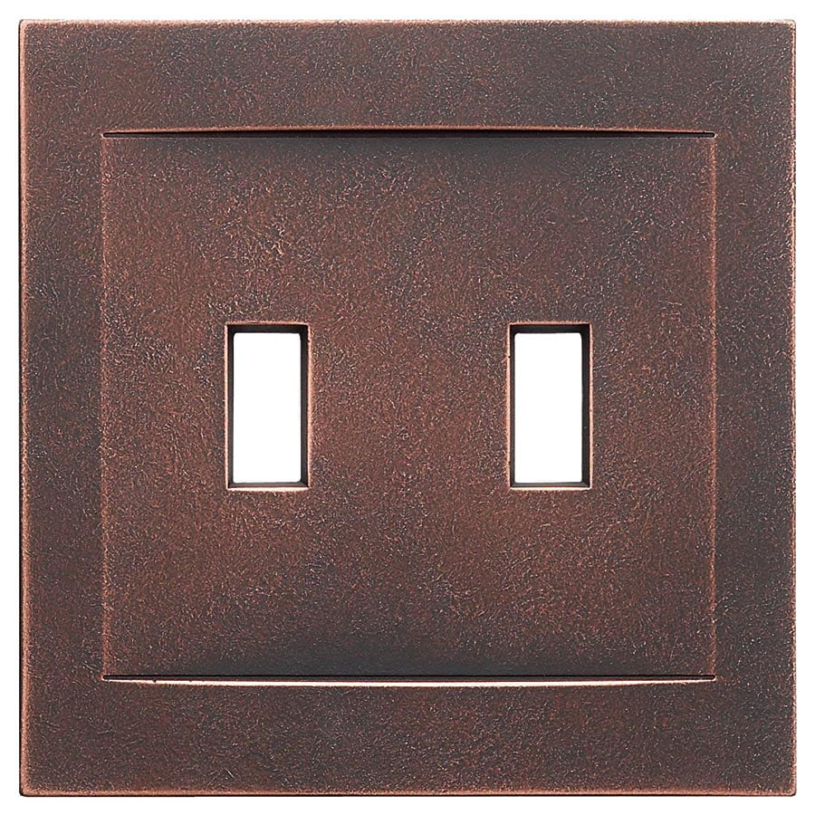 Somerset Collection Contemporary 2-Gang Oil-Rubbed Bronze Wall Plate