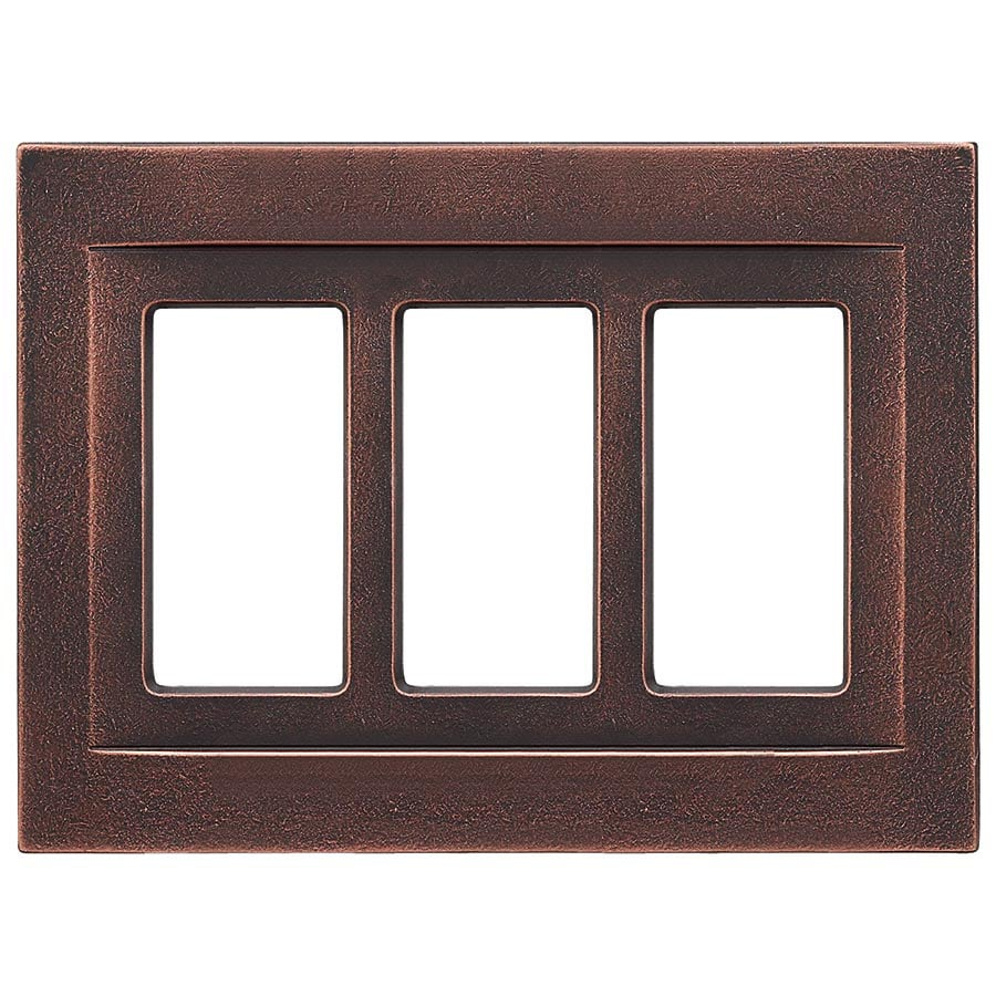 Somerset Collection Contemporary 3-Gang Oil-Rubbed Bronze Triple Decorator Wall Plate