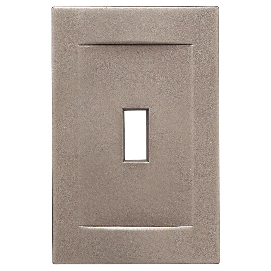 Somerset Collection Contemporary 1 Gang Brushed Nickel Single Standard Wall Plate