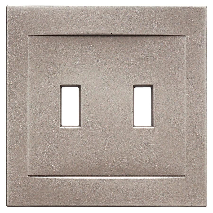 Somerset Collection Contemporary 2-Gang Brushed Nickel Wall Plate