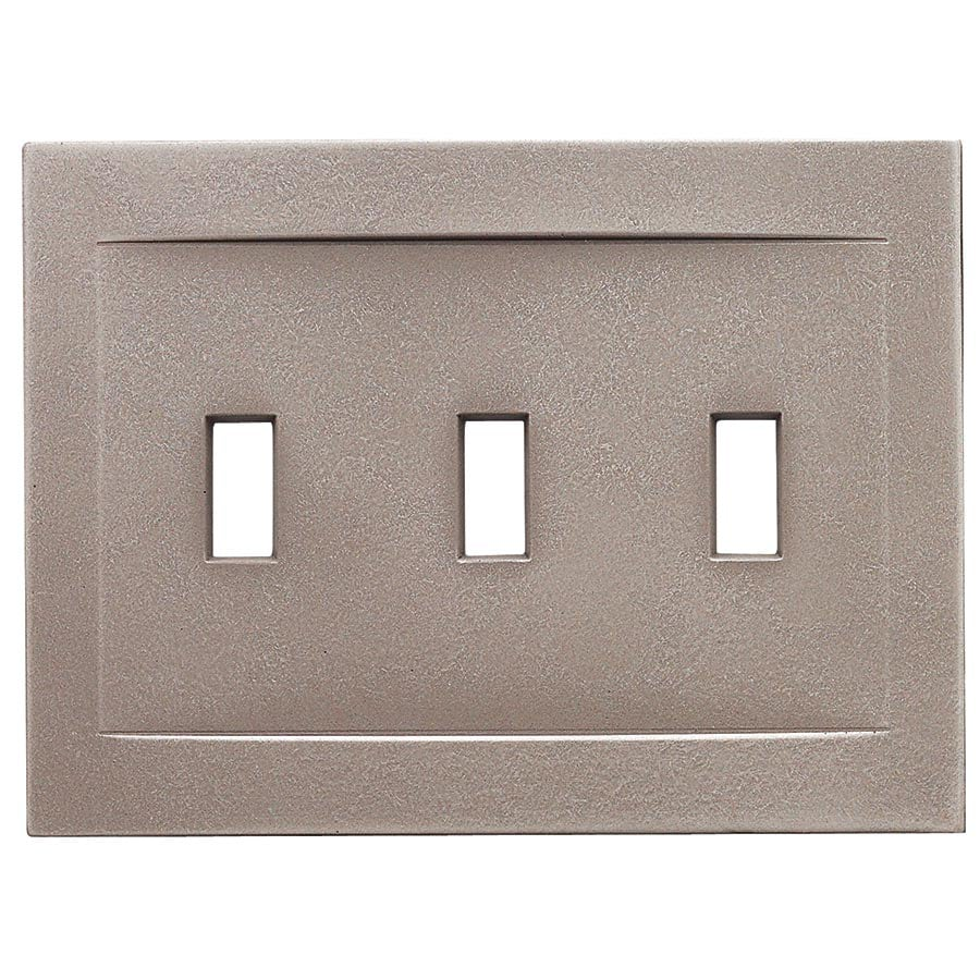 Somerset Collection Contemporary 3-Gang Brushed Nickel Wall Plate