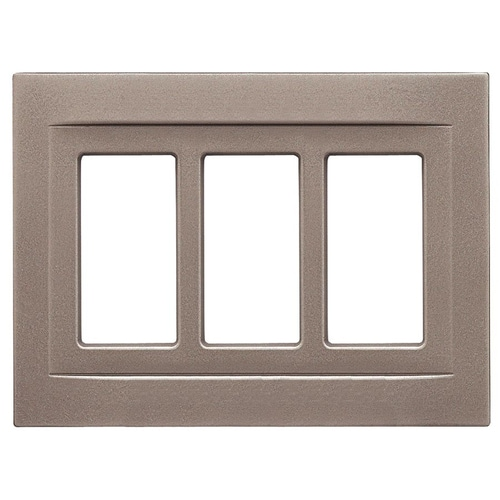 New GE Decorator Light Switch Wall Plate Coated Steel Wood Grain Color Box of 5