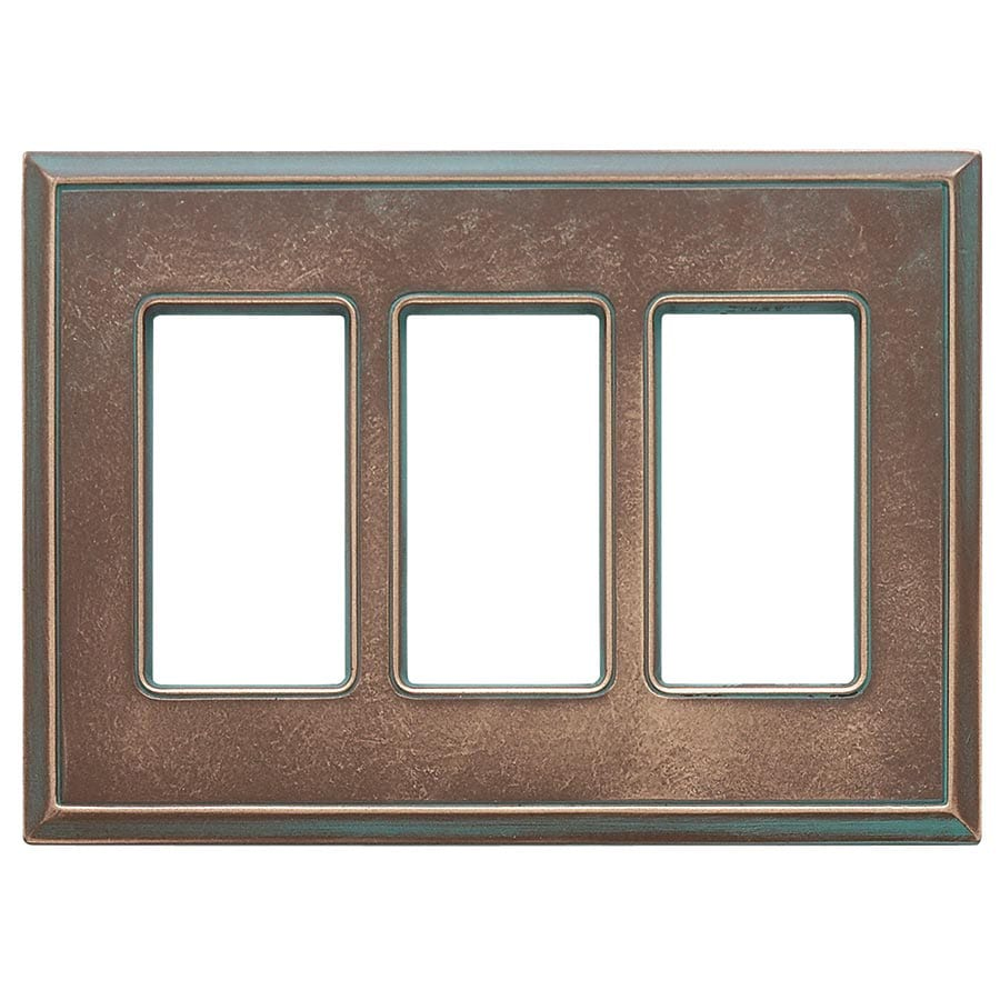 Somerset Collection Patina 3-Gang Bronze Patina Decorator Wall Plate
