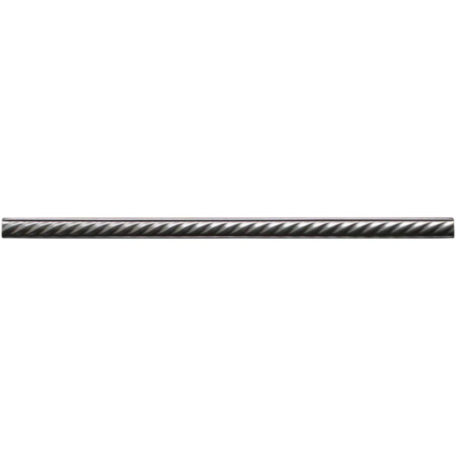 Somerset Collection Brushed Nickel Metal Pencil Liner Tile Common 5 8