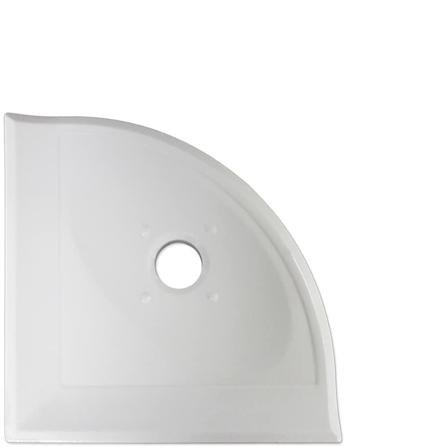 Somerset Collection Somerset-Tier Polished White Ceramic Bathroom Shelf