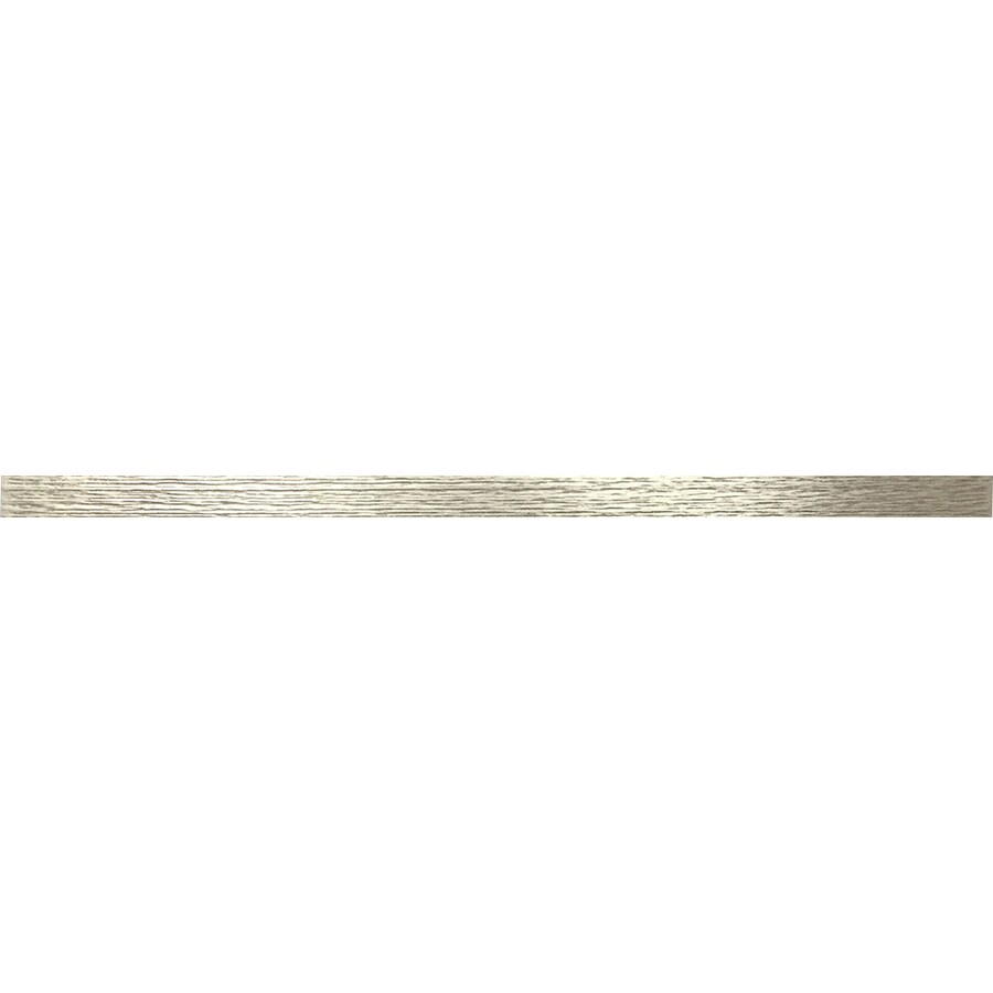 Somerset Collection Somerset 36-Pack Brushed Nickel Composite Border Tile (Common: 1/2-in x 12-in; Actual: 12-in x 0.46-in)