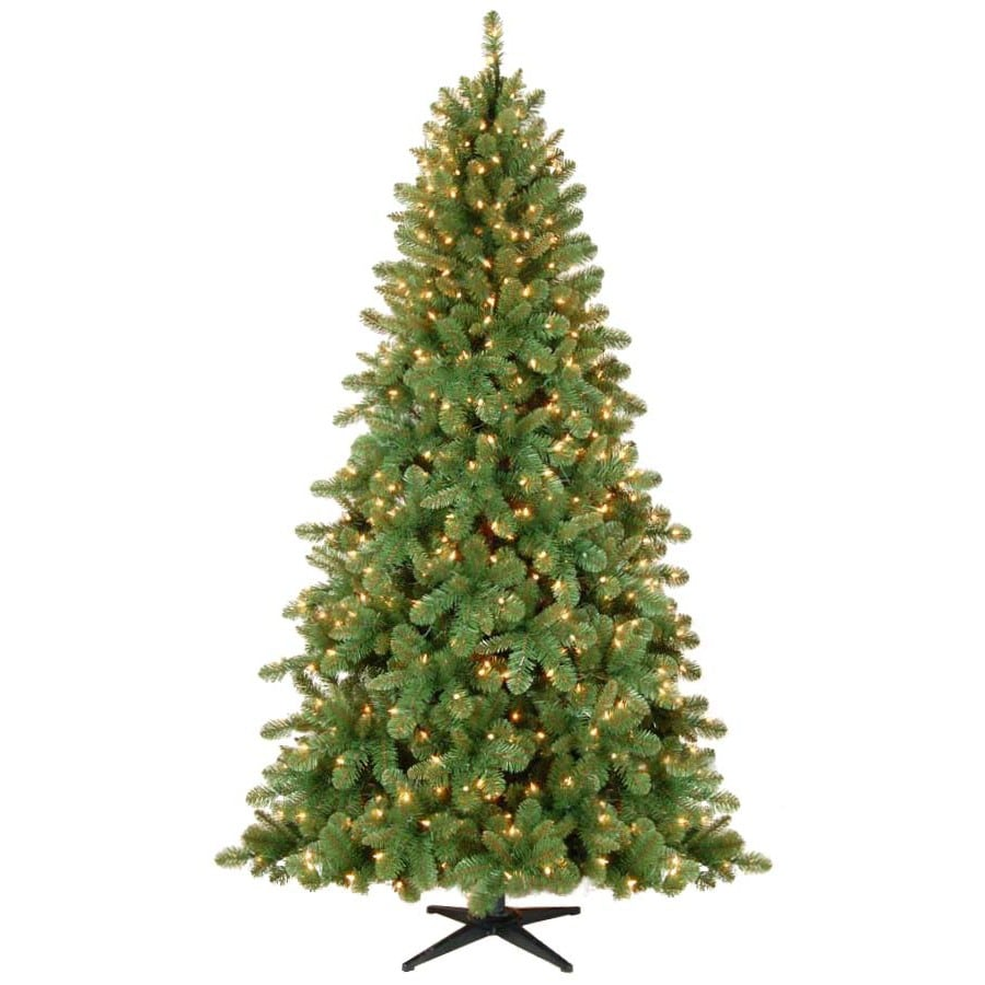 Westinghouse 7.5-ft Indoor Fir Pre-Lit Artificial Christmas Tree Artificial Christmas Tree with 600--Count Clear Incandescent Lights
