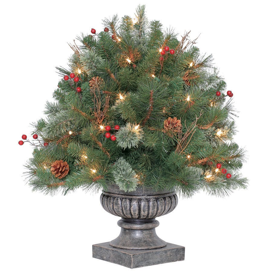 Westinghouse 2.33-ft Indoor/Outdoor Pine Pre-Lit Decorative Artificial Tree with Clear Incandescent Lights