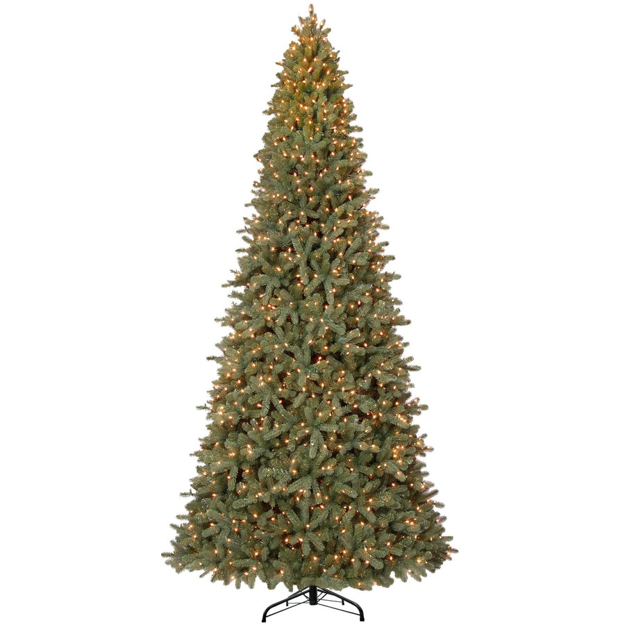 Holiday Living 12-ft 4813-Count Pre-lit Balsam Fir Artificial Christmas Tree with Constant 1550 Single Plug White Clear Incandescent Lights