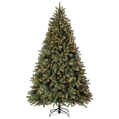 the latest 3e021 b961b 7.5-ft 1833-Count Pre-lit Balsam Fir Artificial Christmas Tree with  Constant 600 Single Plug White Clear Incandescent Lights