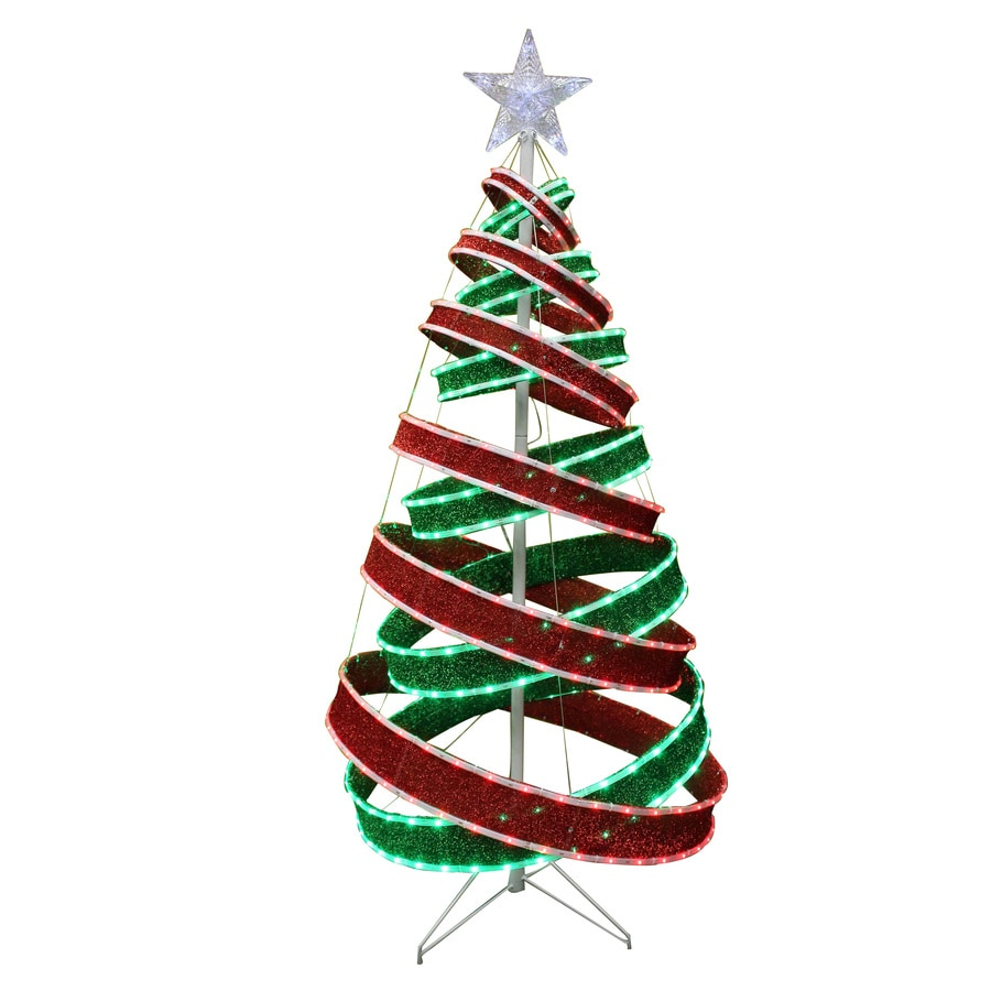 Holiday Living Pre-Lit Tree Sculpture with Constant Multicolor Lights