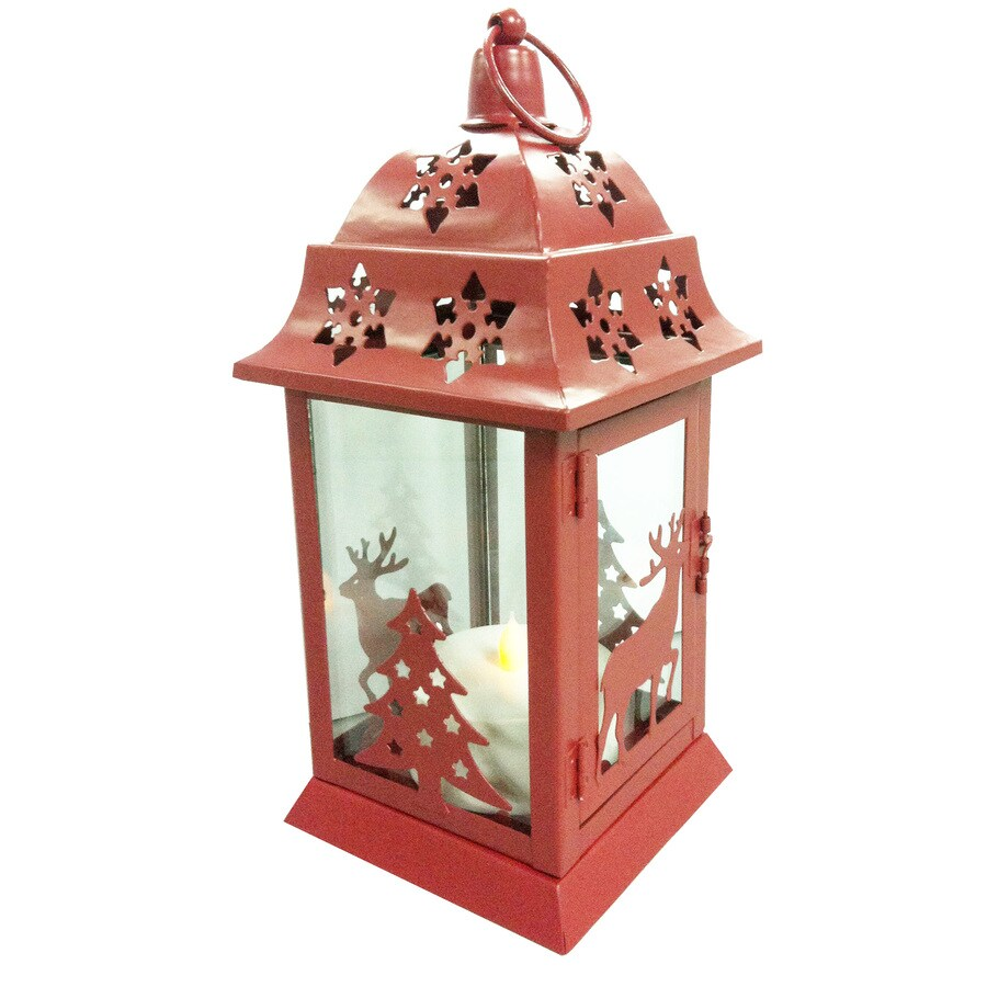 Holiday Living Pre-Lit Winter Lantern with Twinkling Yellow Lights